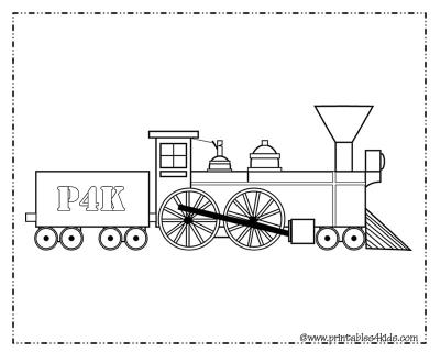 Train Printable Favor